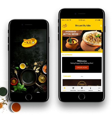 Online Food Ordering App of Biryani By Kilo